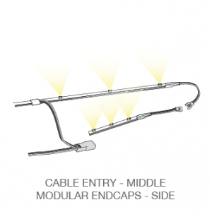 Mecano™ LED light bar cable entry