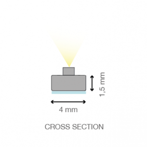 ST LED light bar cross section