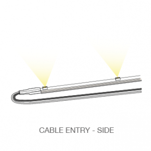 ST LED light bar cable entry