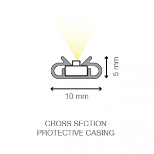 XD, XD+ LED light bar cross section of protective casing