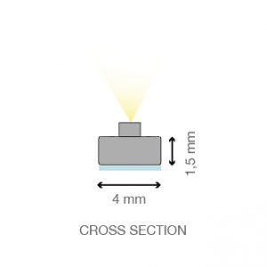 Mecano™ LED light bar cross section