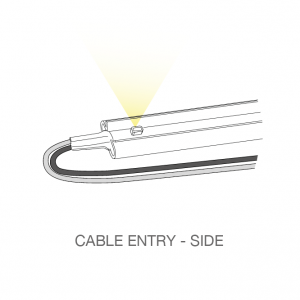 LED light bar - cable entry